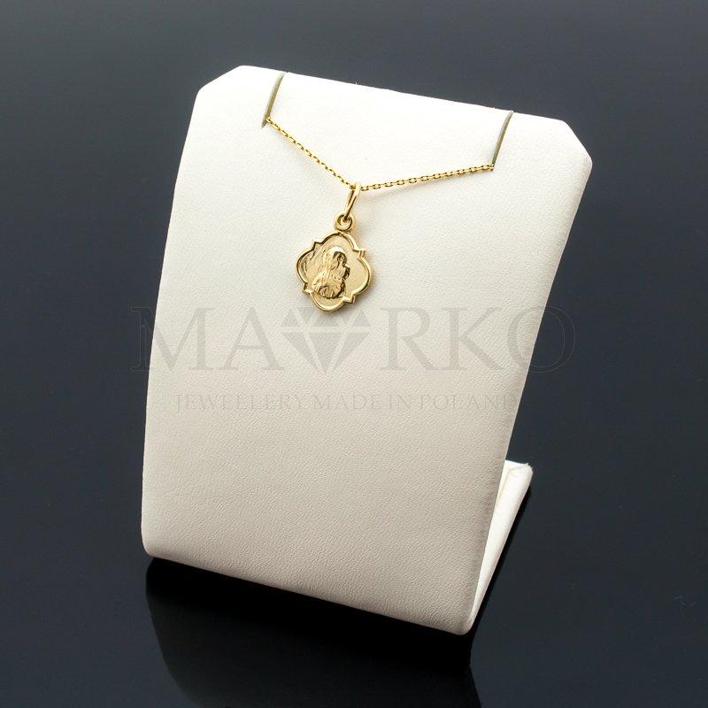 medalik złoty z Matką Boską - zdjęcie